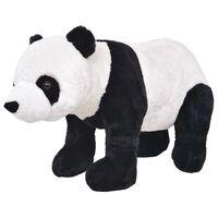 vidaXL Brinquedo de montar panda peluche preto e branco XXL