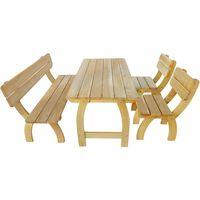 vidaXL Conjunto de jantar p/ jardim 4 pcs madeira de pinho impregnada