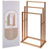 Bathroom Solutions Toalheiro de bambu com 3 varões