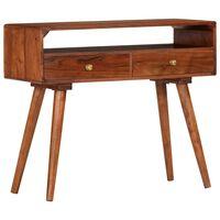 vidaXL Mesa consola 90x35x76 cm madeira de acácia maciça