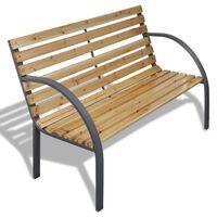 vidaXL Banco de jardim 120 cm madeira e ferro