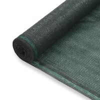 vidaXL Rede de ténis PEAD 1,6x50 m verde