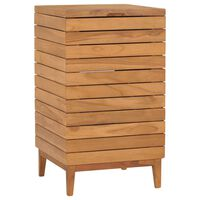 vidaXL Cesto para roupa suja 40x40x70 cm madeira de teca maciça