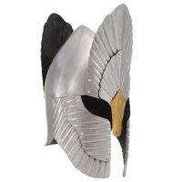 vidaXL Capacete de cavaleiro medieval réplica LARP aço prateado
