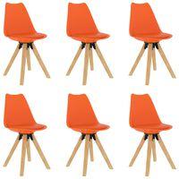 vidaXL Cadeiras de jantar 6 pcs cor de laranja