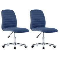 vidaXL Cadeiras de jantar 2 pcs tecido azul