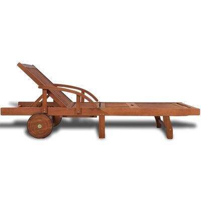vidaXL Espreguiçadeira madeira acácia maciça ,