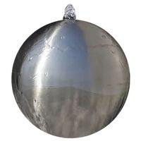 vidaXL Fonte esfera com LEDs para jardim 30 cm aço inoxidável
