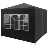 vidaXL Tenda para festas 3x3 m antracite