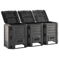 vidaXL Caixote de compostagem para jardim 1200 L