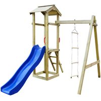 vidaXL Casa brincar c/ escorrega e escadas 237x168x218 cm madeira