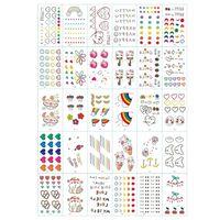 Esfregar - tatuagens para crianças 30 folhas com motivos coloridos