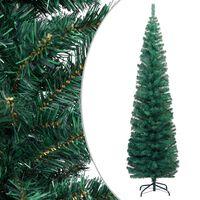 vidaXL Árvore de Natal artificial fina com suporte 180 cm PVC verde