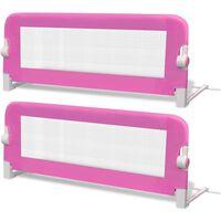 vidaXL Barra de segurança para cama de criança 2 pcs 102x42 cm rosa