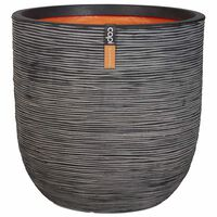 Capi Vaso oval Nature Rib 54x52 cm antracite KOFZ935