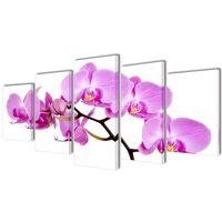 Políptico com impressão orquídea 100 x 50 cm