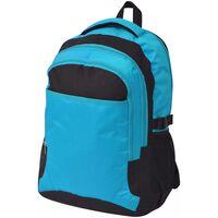 vidaXL Mochila escolar 40 L preto e azul