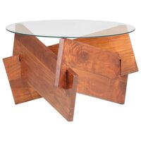 vidaXL Mesa de centro 60 cm madeira de acácia maciça