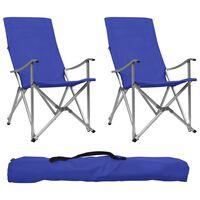 vidaXL Cadeiras de campismo dobráveis 2 pcs azul
