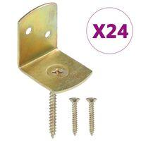 vidaXL Suportes painel de vedação 24 pcs metal galvanizado forma de L