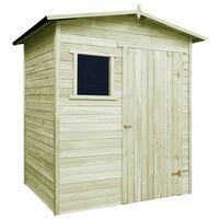 vidaXL Abrigo/casa de jardim 1,5x2 m pinho impregnado