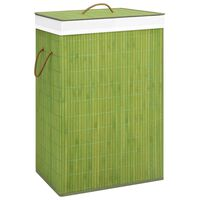 vidaXL Cesto para roupa suja bambu verde