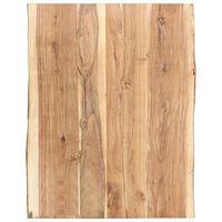 vidaXL Tampo de mesa 80x(50-60)x3,8 cm madeira de acácia maciça