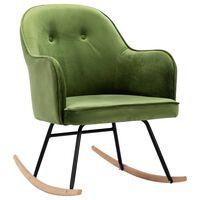 vidaXL Cadeira de baloiço veludo verde-claro