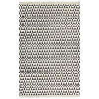 vidaXL Tapete Kilim em algodão 160x230 cm com padrão preto/branco