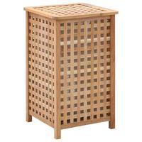 vidaXL Cesto para roupa suja 39x39x65 cm madeira de nogueira maciça