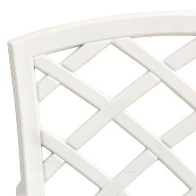 vidaXL 5 pcs conjunto de bistrô alumínio fundido branco