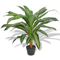 vidaXL Planta dracena artificial com vaso 90 cm verde