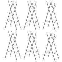 vidaXL Pernas de mesa dobráveis 6pcs 45x55x112 cm aço galvan. prateado