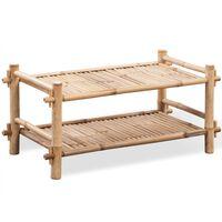 Sapateira com 2 níveis de bambu