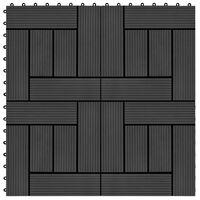 vidaXL Ladrilhos de pavimento 22 pcs WPC 2m² 30x30 cm preto