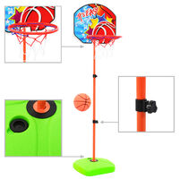 vidaXL Conjunto de tabela e bola de basquetebol infantil