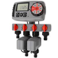 42352 vidaXL Temporizador Automático de Irrigação com 4 Estações 3 V