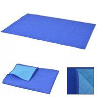 vidaXL Toalha de piquenique azul e azul claro 100x150 cm