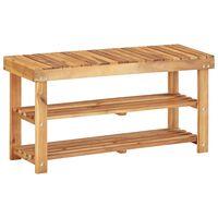 vidaXL Sapateira 90x32x46 cm madeira de acácia maciça