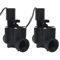 vidaXL Válvulas solenoides de irrigação de água 2 pcs CA 24 V