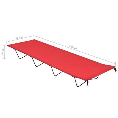 vidaXL Camas de campismo 2pcs 180x60x19cm tecido oxford e aço vermelho