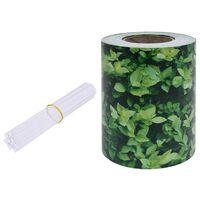 vidaXL Painel de privacidade para jardim 35x0,19 m PVC verde