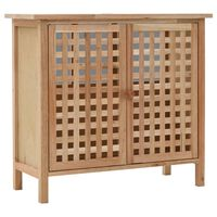 vidaXL Armário para lavatório em madeira de nogueira maciça 66x29x61 cm