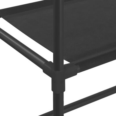 vidaXL Estante de 3 prateleiras para lavandaria 69x28x169 cm preto