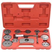 vidaXL 12 pcs kit de ferramentas recuo pistão pinça do travão de disco