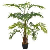 vidaXL Palmeira artificial com vaso 120 cm verde