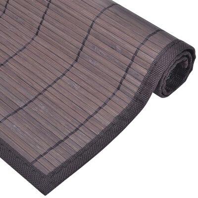 Individuais de mesa em bambu 6 pcs 30 x 45 cm castanho escuro