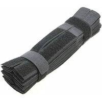 Alça De Velcro 50 Pack Preta