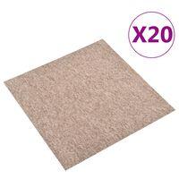 vidaXL Ladrilhos carpete para pisos 20 pcs 5 m² 50x50 cm bege