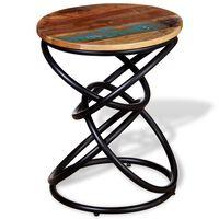 vidaXL Mesa de apoio em madeira reciclada maciça